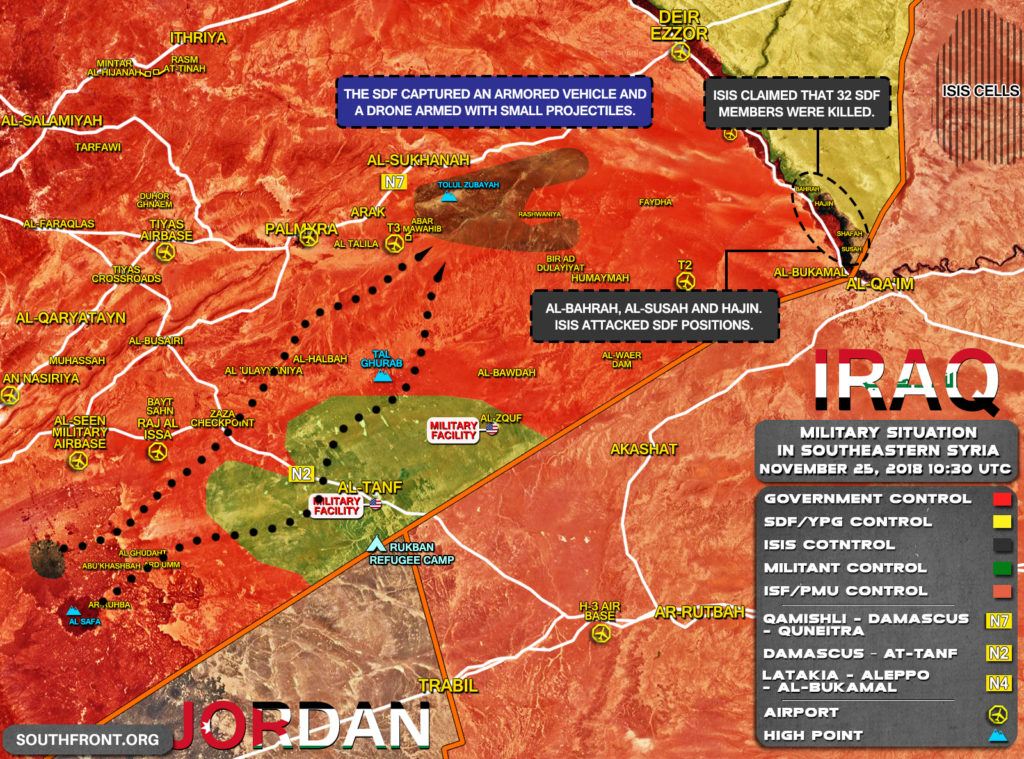 US-backed Forces Continue Their Struggle Against ISIS 'Super Pocket' In Euphrates Valley (Map)