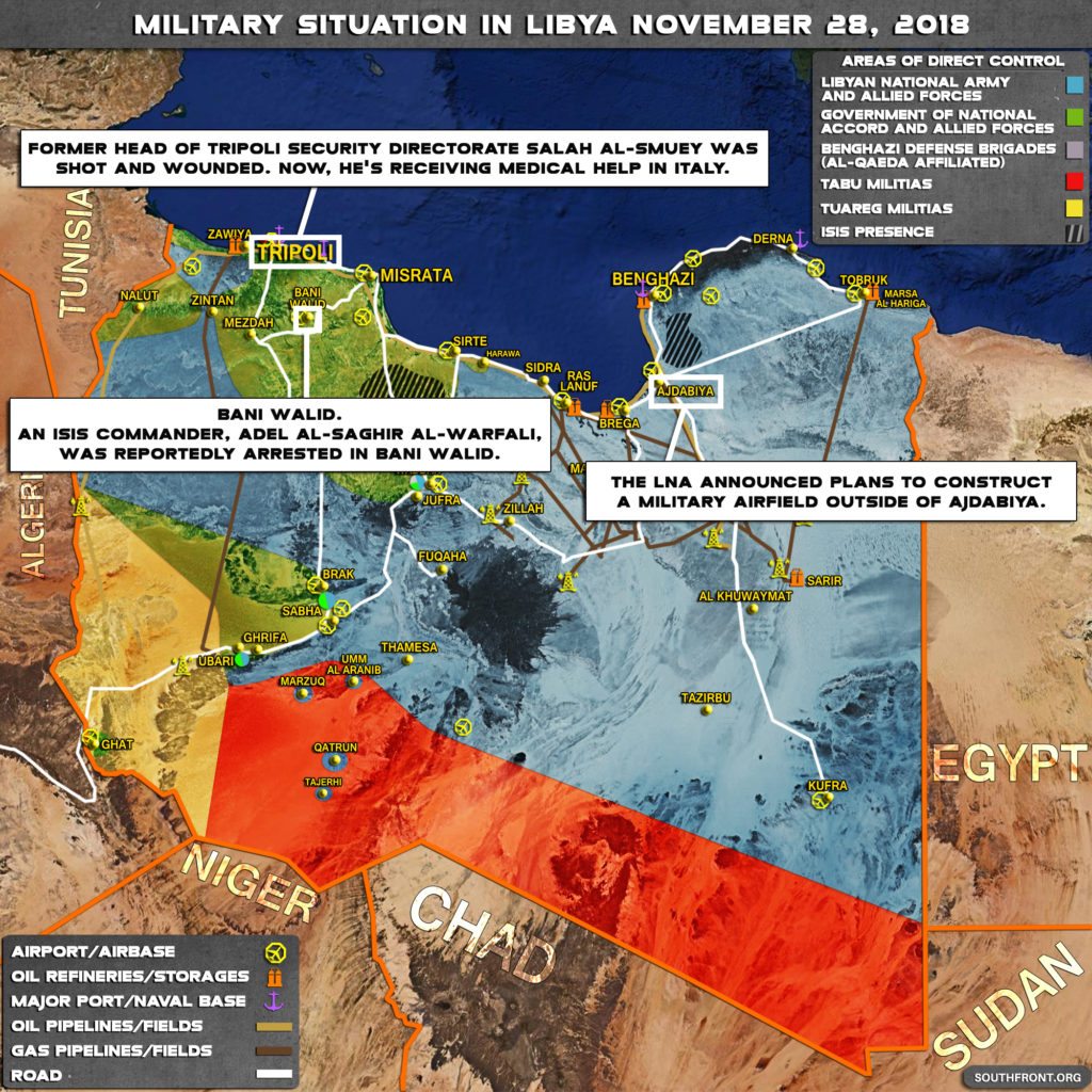 Military Situation In Libya On November 28, 2018 (Map Update)