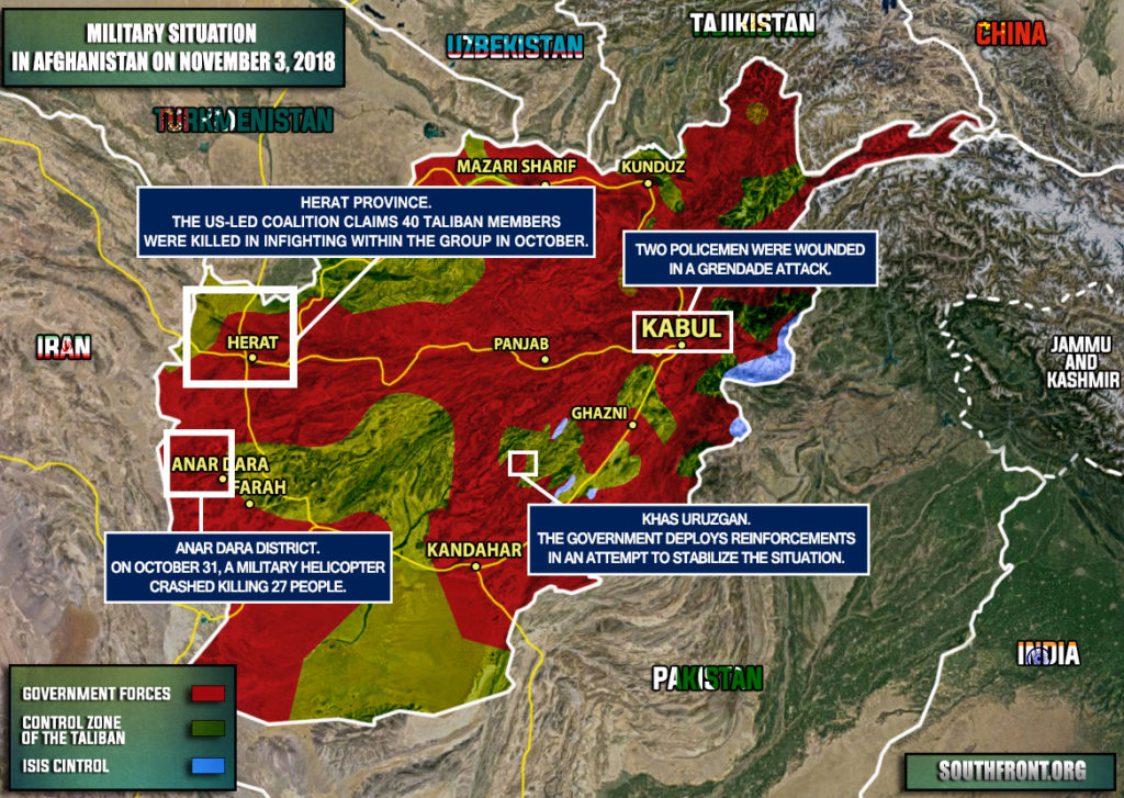 Military Situation In Afghanistan On November 3, 2018 (Map Update)
