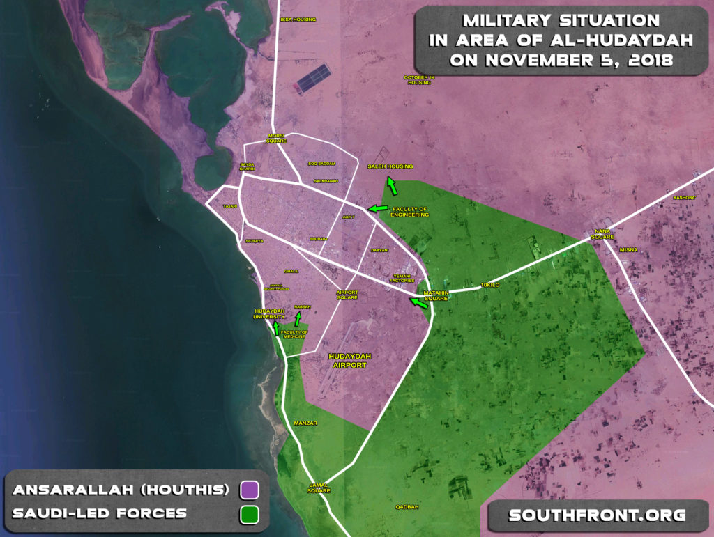 Battle For Yemen's Al-Hudaydah On November 1-5, 2018 (Maps, Videos)