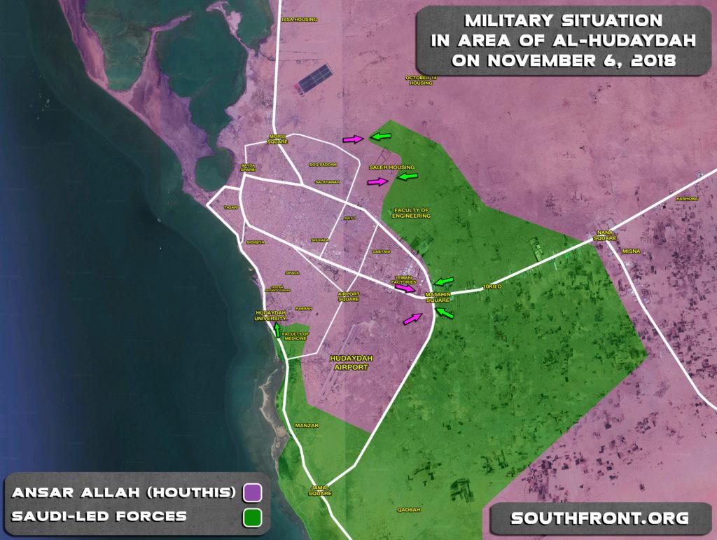 Battle For Yemen's Al-Hudaydah On November 6, 2018 (Maps, Videos)