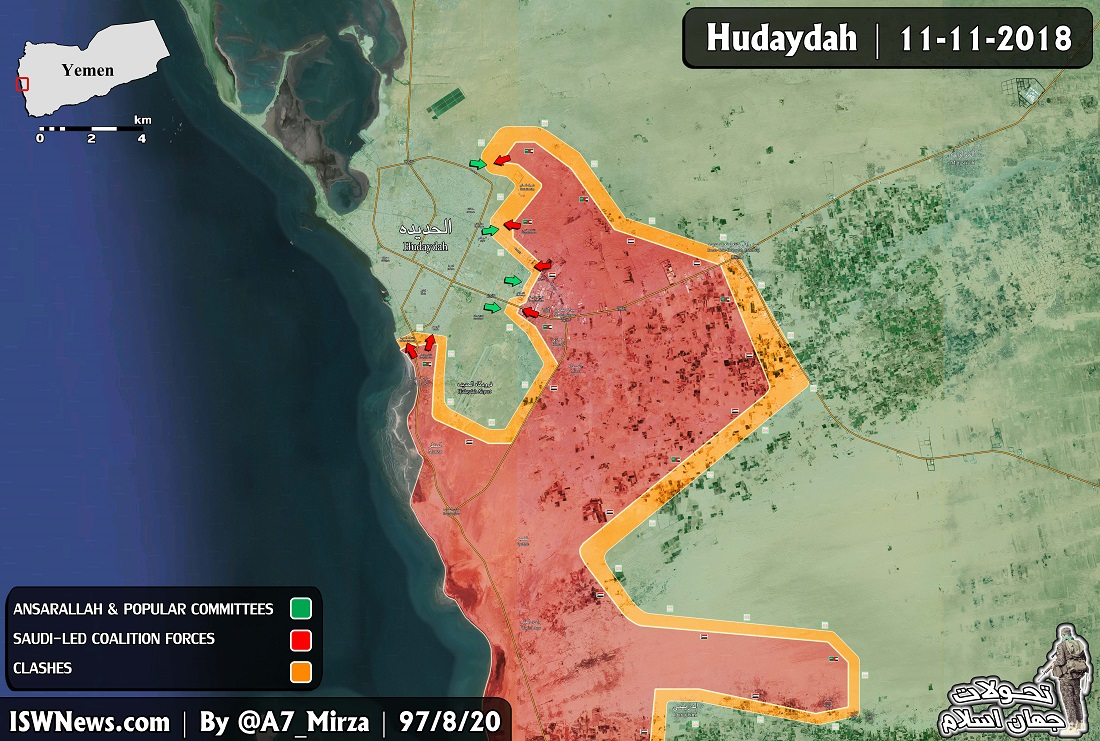 Houthis Kill Dozens Of Saudi-Backed Fighters  And Repel New Attacks On Al-Hudaydah (Map)