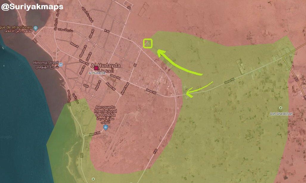 Saudi-Led Coalition Forces Launch Large-Scale Attack On Al-Hudaydah, Reach City Entrances (Map, Videos)