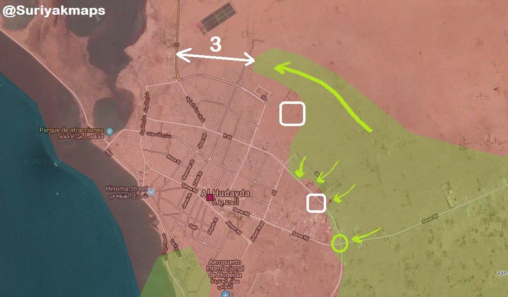 Saudi-led Coalition Forces Advance Along Key Street In Al-Hudaydah Area (Map, Videos)