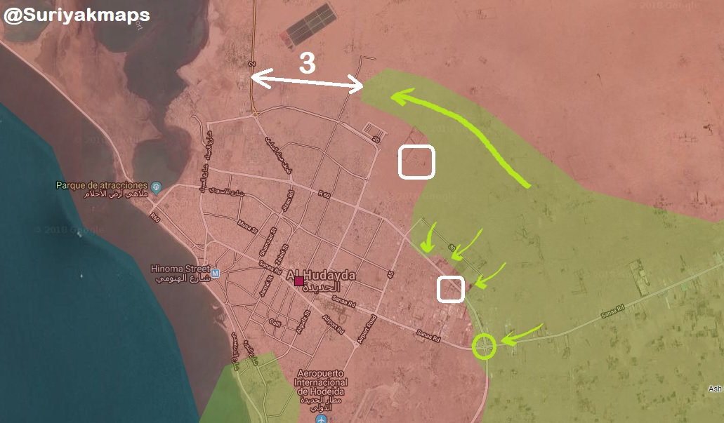Saudi-led Coalition Forces Advance Along Key Street In Al-Hudaydah Area (Map, Videos)