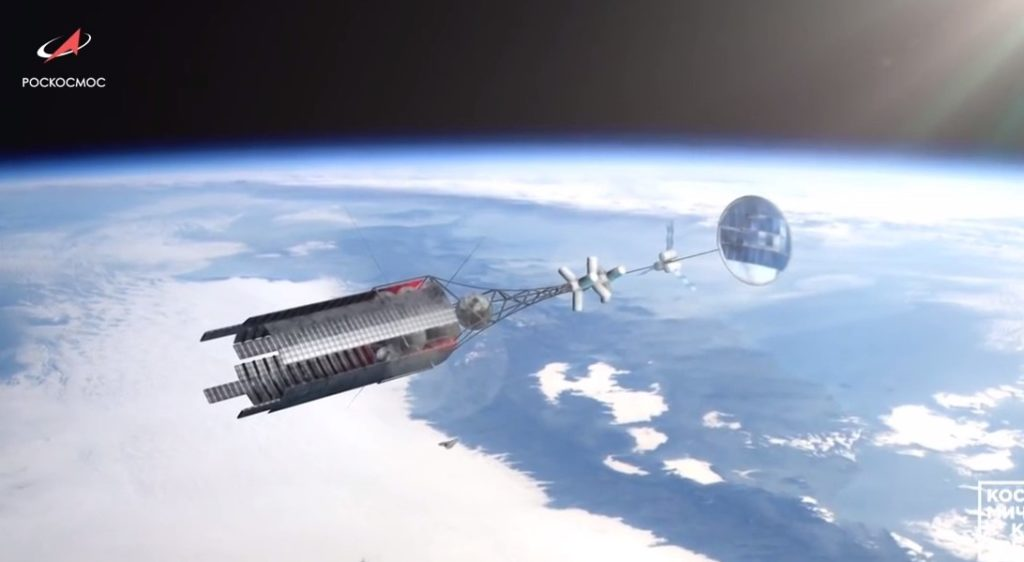 Russia's Roscosmos Unveils Nuclear Powered Space Ship For Interstellar Travels (Video)