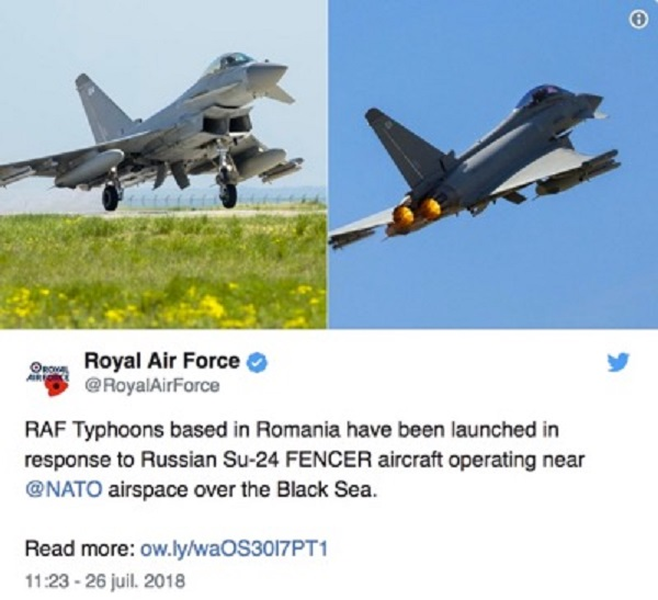 "Fake news: Nato's ""interception"" of Russian planes"