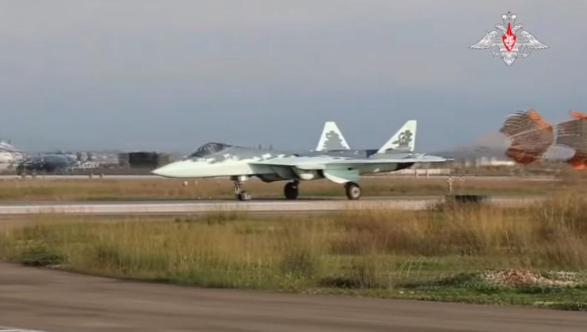 Russian Military Releases Video Of Su-57 5th-Generation Fighters In Syria