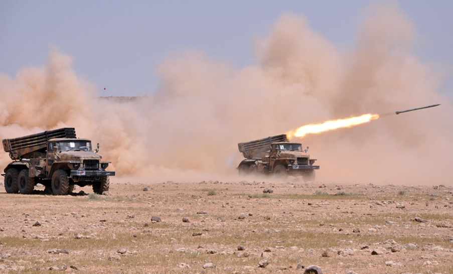 Syrian Army Artillery Pounds Militant Positions In Idlib And Hama
