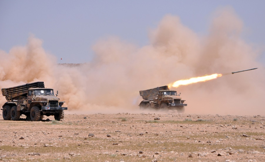 Syrian Army Strikes Militants Positions In Northern Hama And Southern Idlib