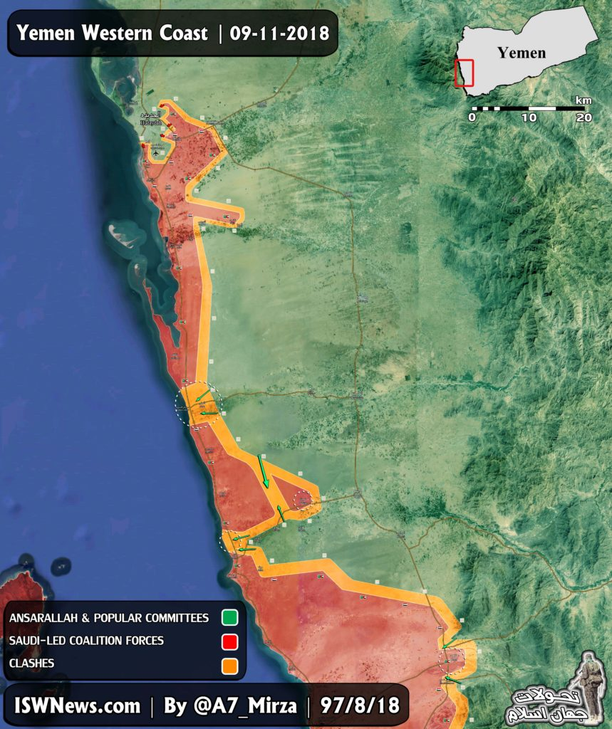 Overview Of Military Situation In Yemen On November 9, 2018 (Maps)