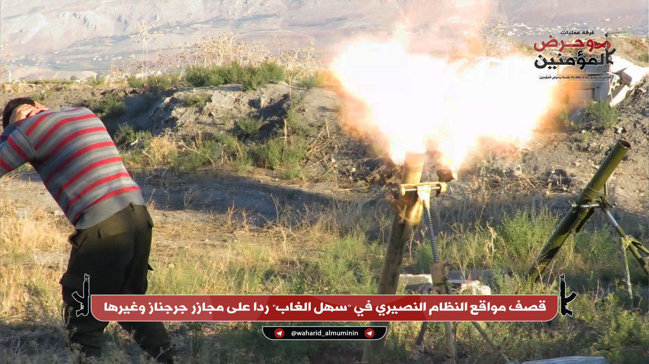 Al-Qaeda-linked Militants Continue Their Attacks On Syrian Army In Northwestern Hama (Photos)