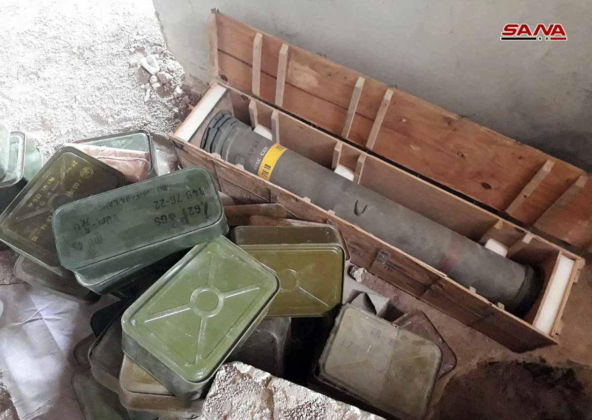 Syrian Army Uncovers TOW Missile And Other Weapons In Southern Damascus