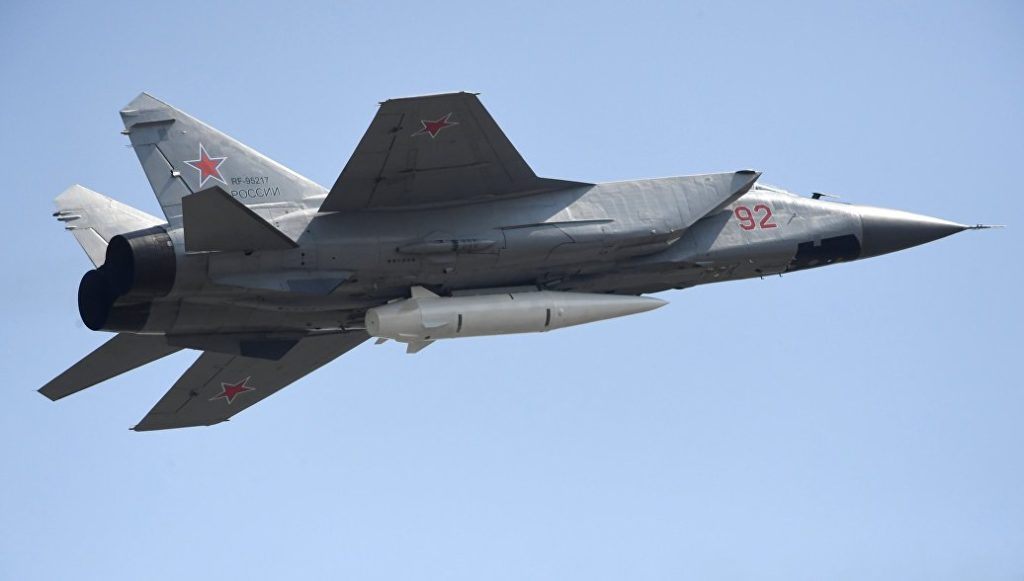MiG-31 Jets Armed With Kinzhal Hypersonic Missiles Carried Out 89 Patrols Over Caspian And Black Seas