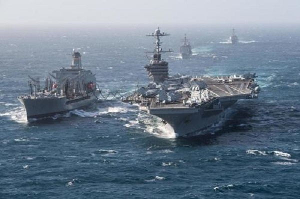 "U.S. Aircraft Carrier Heads To Persian Gulf In ""Show Of Force"" After Iran Ballistic Missile Test"