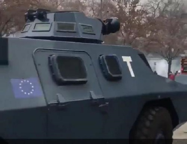 EU Army? France Riot Control Vehicles Bearing EU Flag Stoke Fear, Confusion