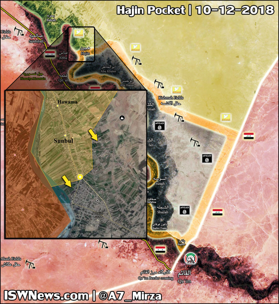 US-backed Forces Continue To Storm ISIS Positions In Hajin. About Half Of Town In Their Hands (Map)
