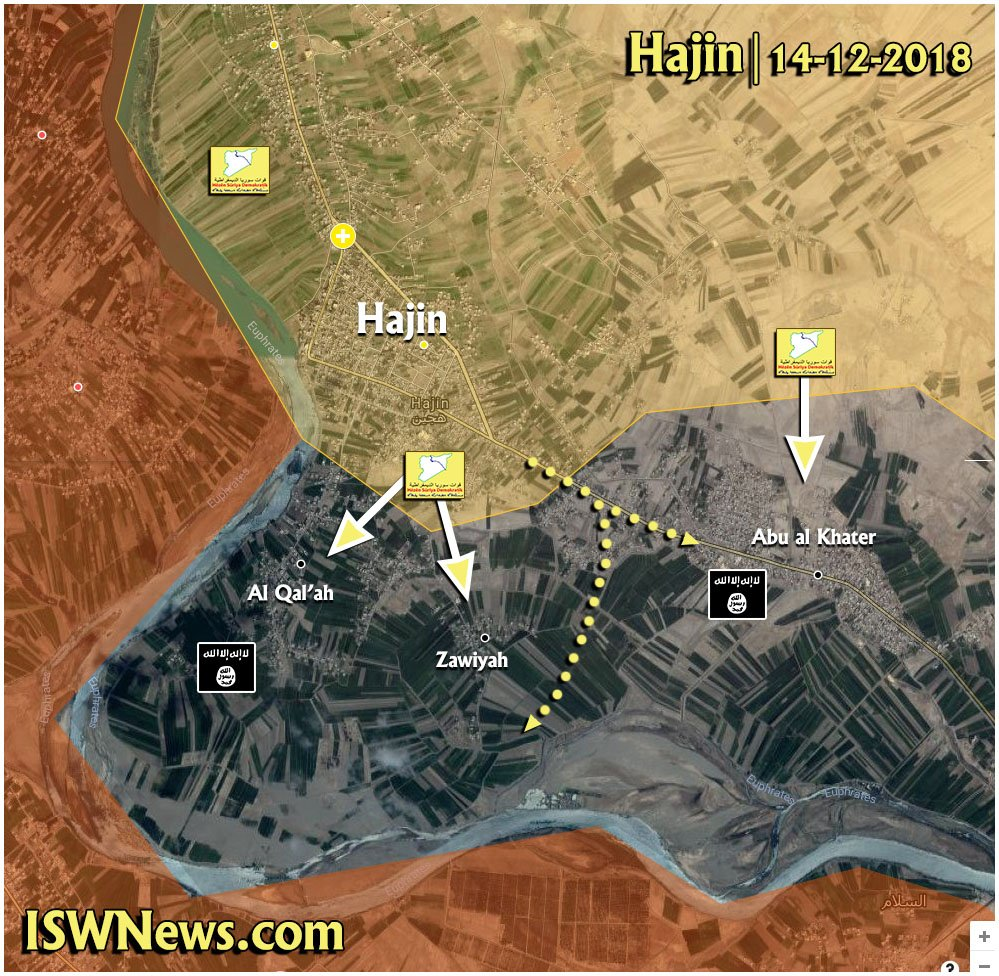 US-backed Forces Are In Control Of Most Of Hajin Town In Eastern Syria (Map Update)