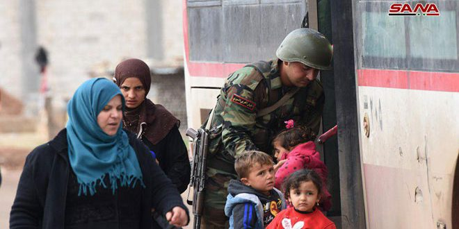 Syrian, Russian Forces Evacuate Hundreds Of Civilians From Terrorist-Held Areas In Euphrates Valley, Idlib De-Escalation Zone
