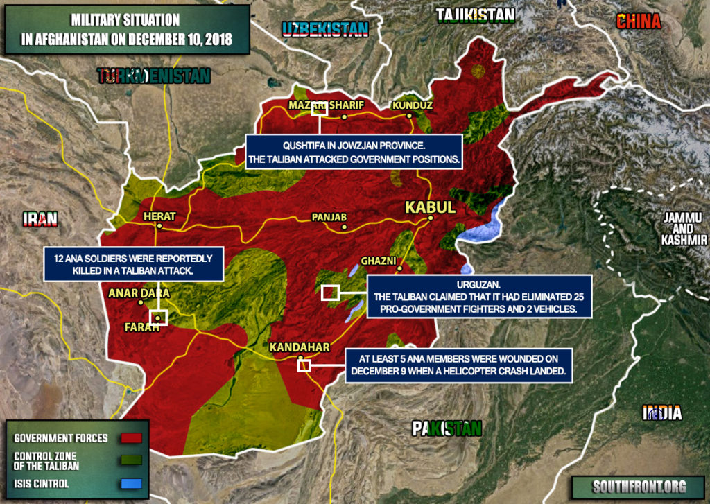 Military Situation In Afghanistan On December 10, 2018 (Map Update)