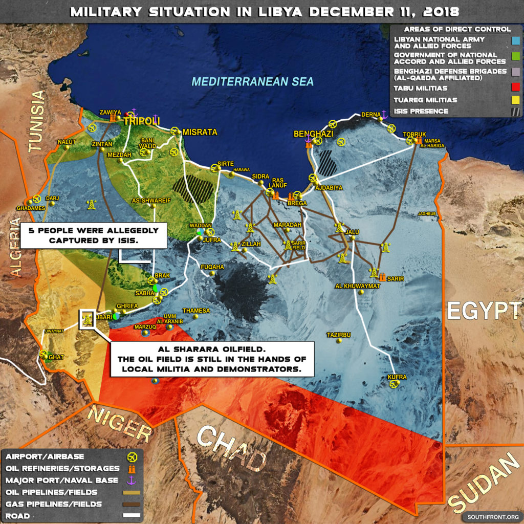 Military Situation In Libya On December 11, 2018 (Map Update)
