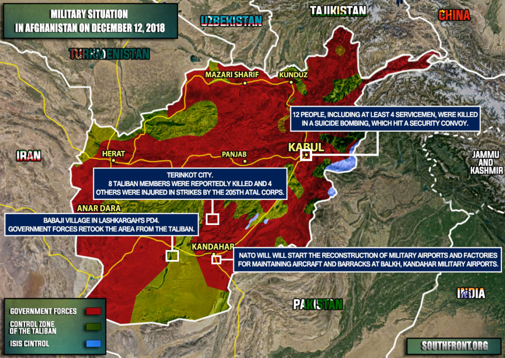 Military Situation In Afghanistan On December 12, 2018 (Map Update)