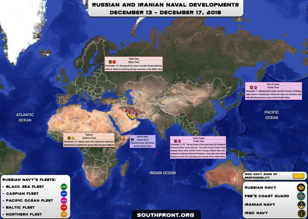 Iranian, Russian Naval Developments December 13 - 17, 2018 (Map Update)