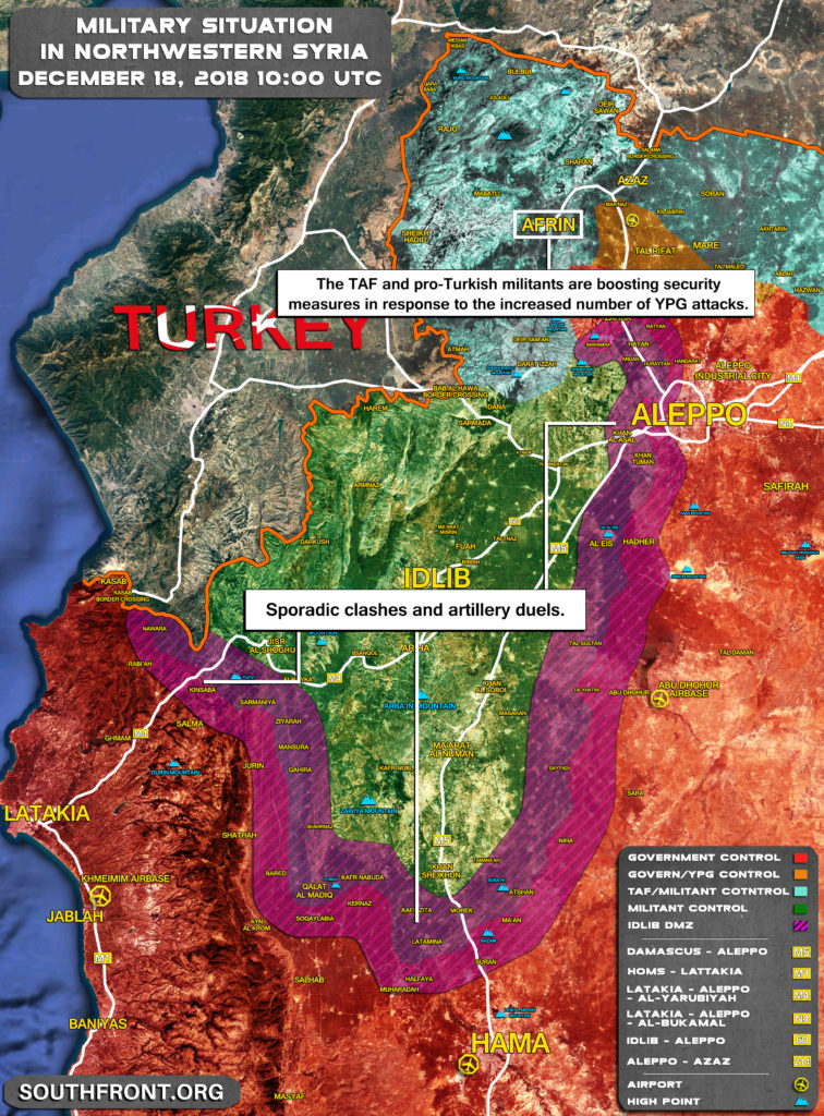 Map Update: Militants Continue To Violate Ceasefire Regime In Idlib De-Escalation Zone