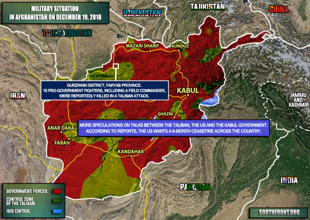 Military Sitaution In Afghanistan On December 19, 2018 (Map Update)