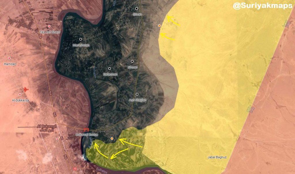 In Maps: SDF Advances Against ISIS In Hajin Pocket