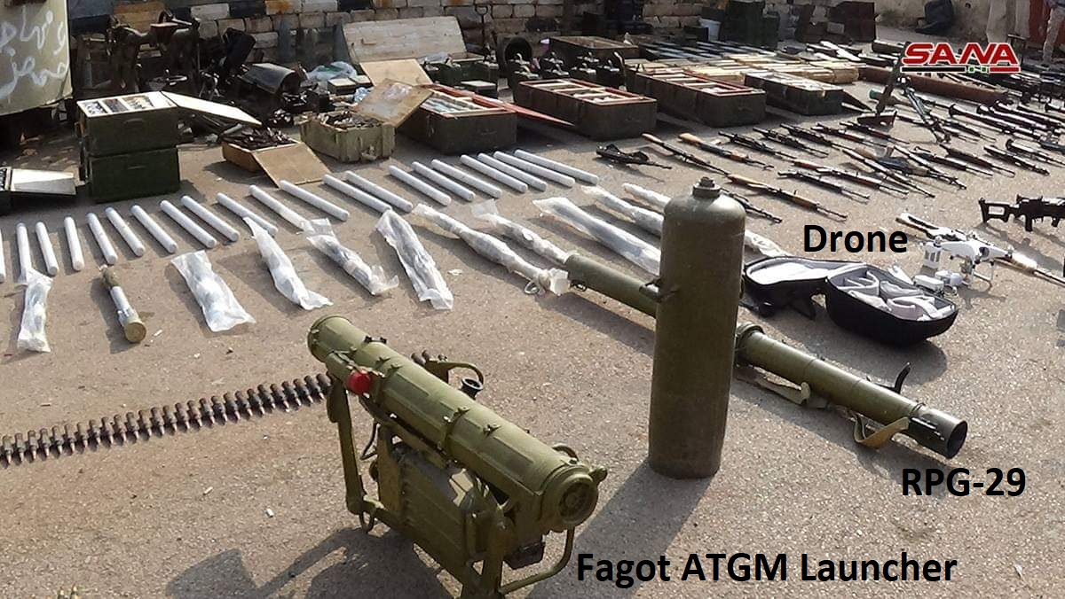 Syrian Army Uncovers Missiles, Drones, Other Weapons & Ammunition In Daraa (Video)
