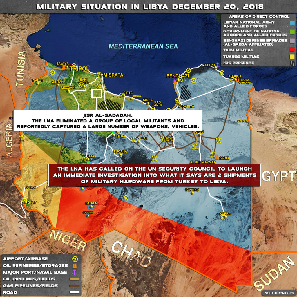 Military Situation In Libya On December 20, 2018 (Map Update)