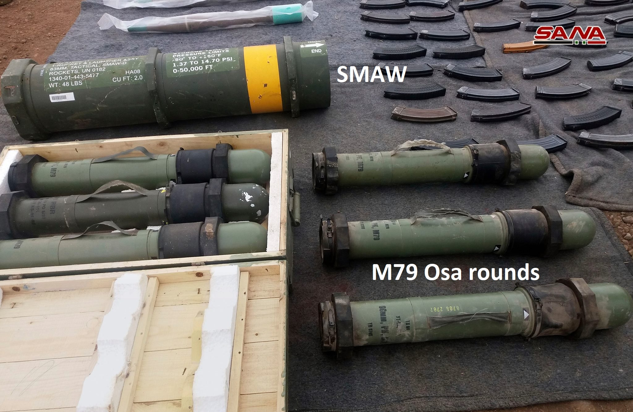 Army Uncovers Loads Of US- And Israeli-Supplied Weapons And Medical Equipment In Southern Syria