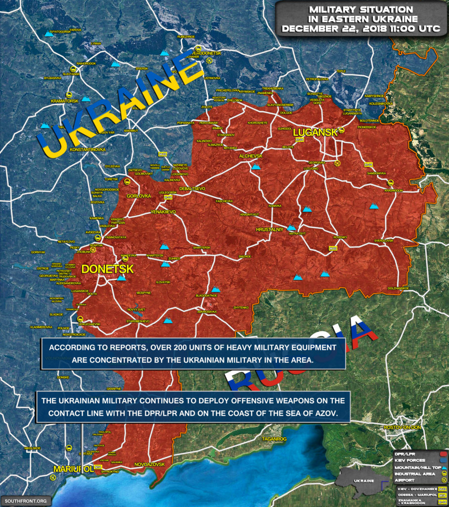 Map Update: Kiev Deploys Reinforcements On Contact Line In Eastern Ukraine, Coast Of Sea Of Azov