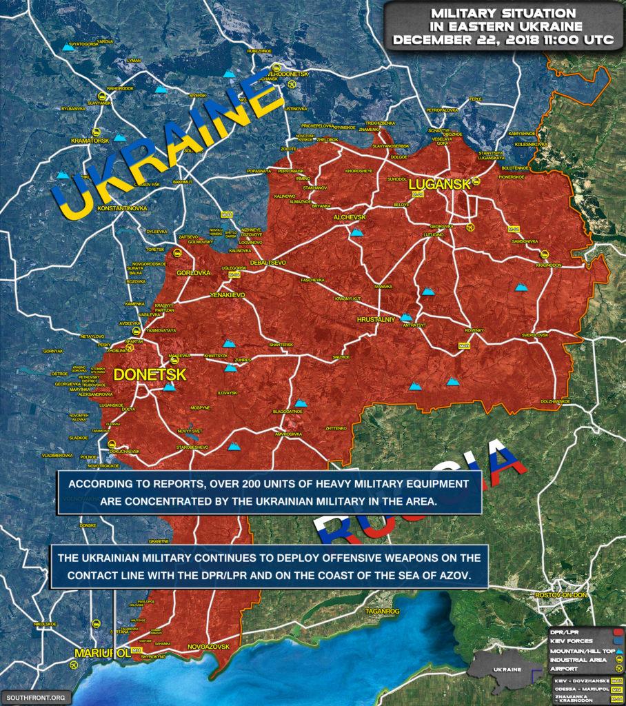 Map Update: Kiev Deploys Reinforcements On Contact Line In Eastern Ukraine, Coast Of Sea Of Azov