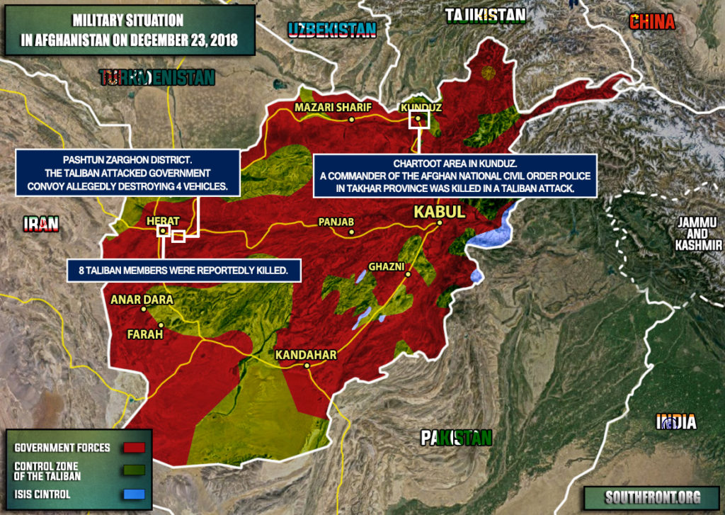 Fierce Clashes Ongoing Between Army And Taliban In Afghanistan's Herat Province