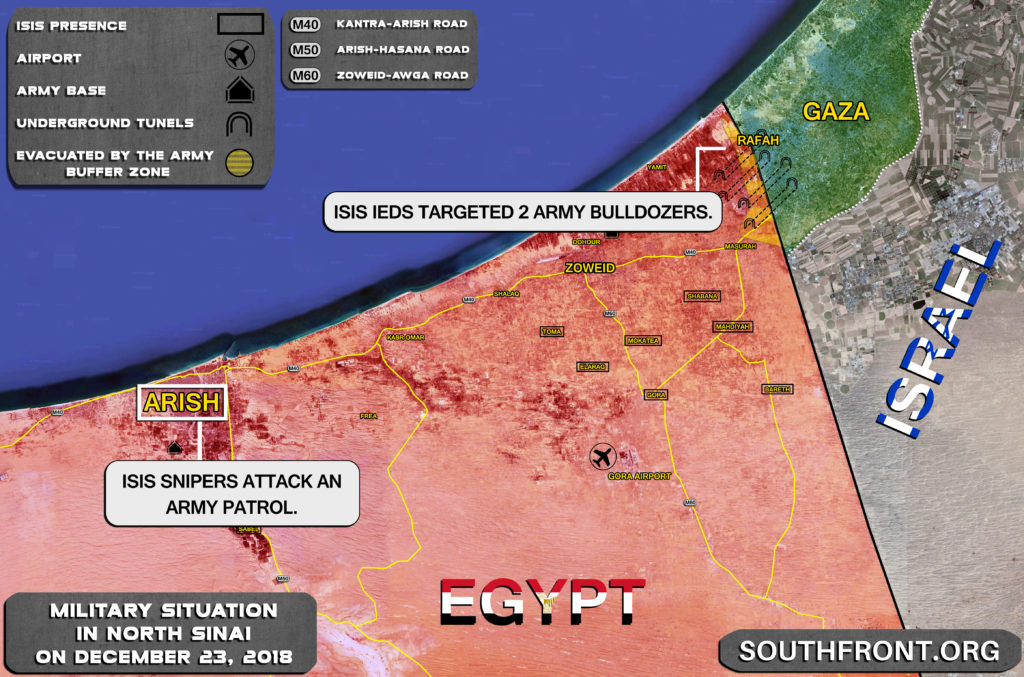 ISIS Continues Attacks On Army Positions, Patrols In Egypt's North Sinai (Map)