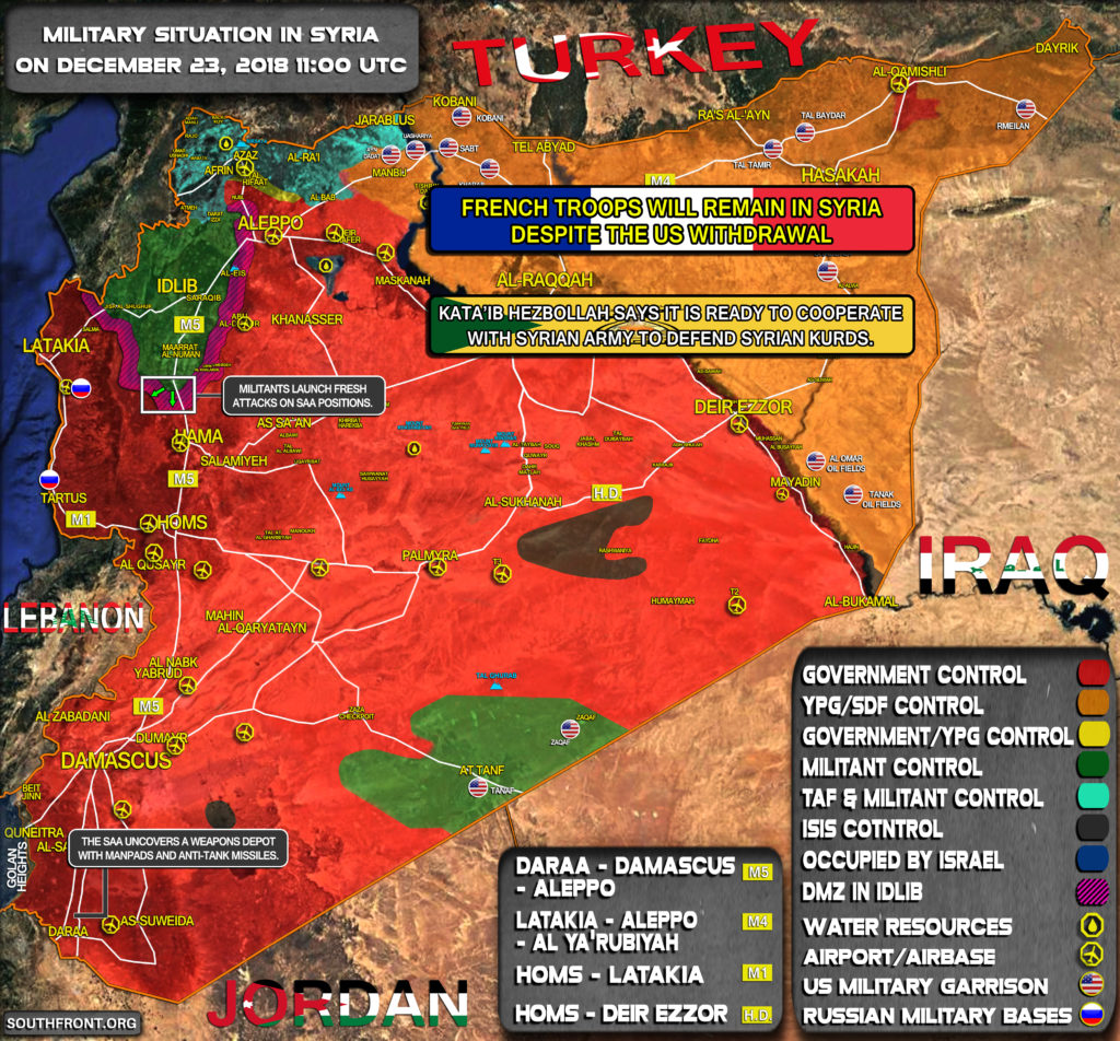 Military Situation In Syria On December 23, 2018 (Map Update)