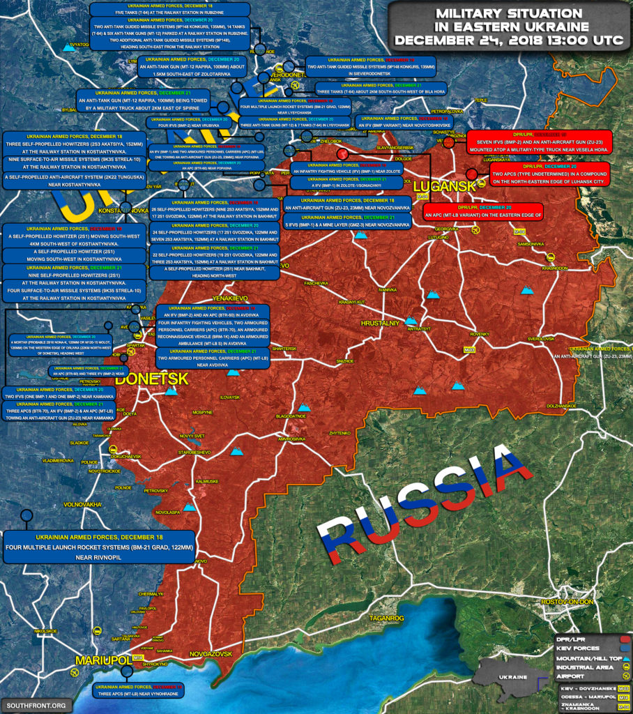 Kiev Concentrated Large Number Of Offensive Weapons On Contact Line With Local Militias In Eastern Ukraine
