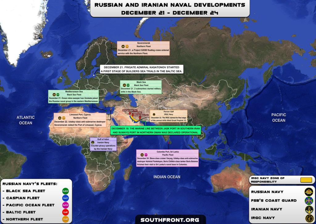 Iranian, Russian Naval Developments December 21 – 24, 2018 (Map Update)