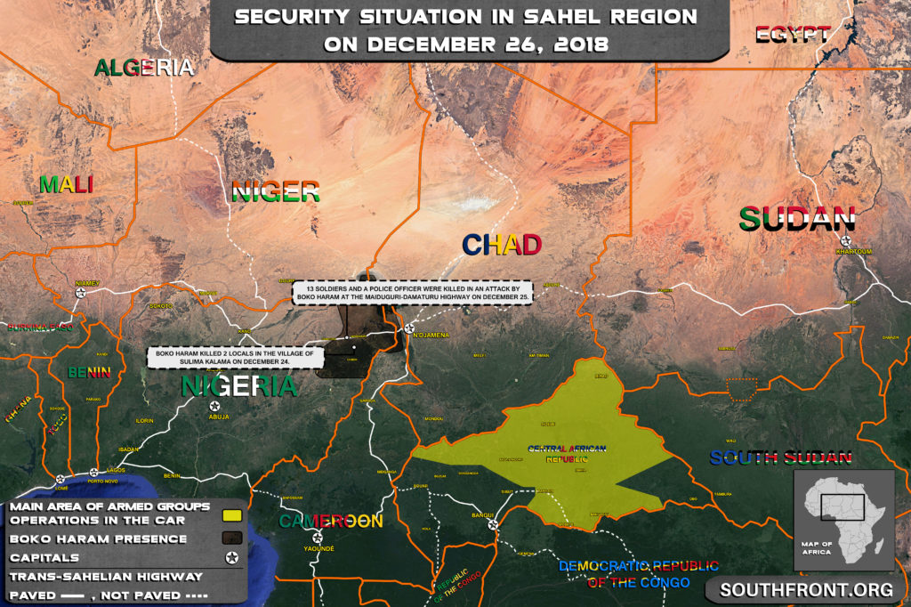 Security Situation In Sahel Region On December 26, 2018 (Map Update)