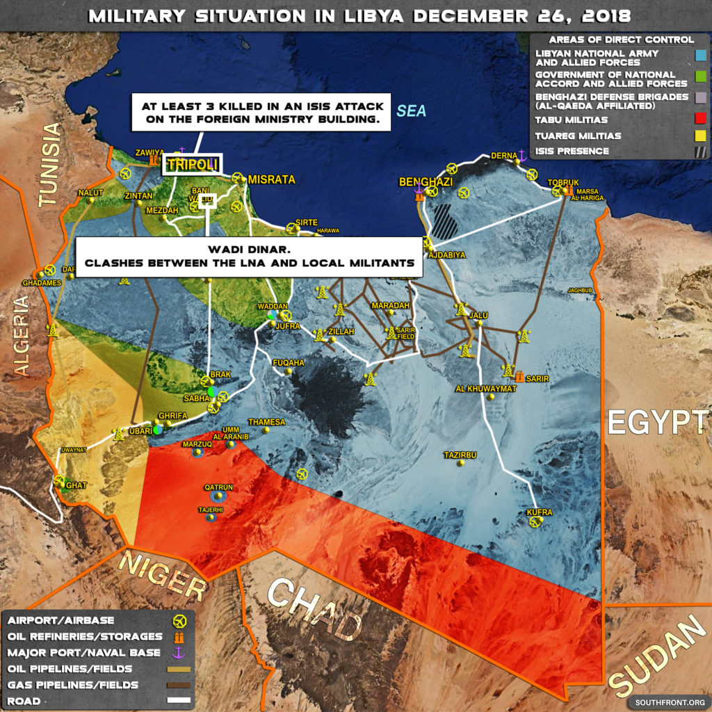 Military Situation In Libya On December 26, 2018 (Map Update)
