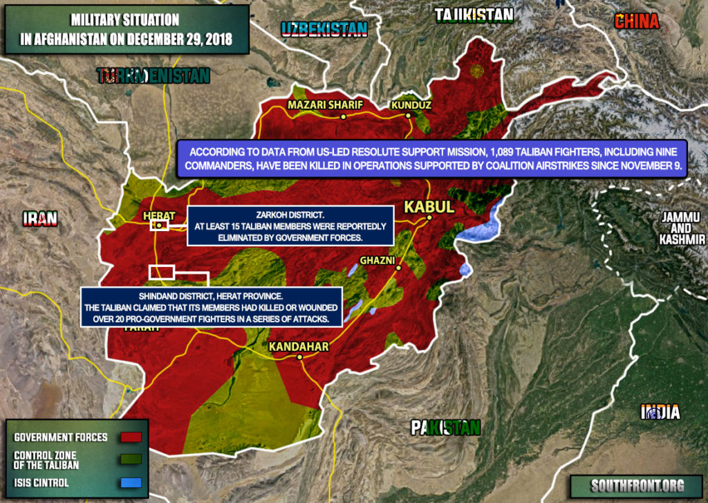 US-led Coalition: Over 1,000 Taliban Members Killed In Afghanistan Since Early November