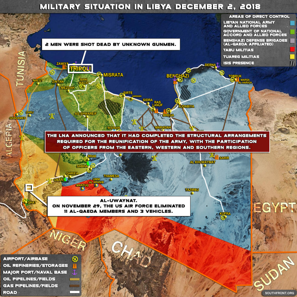 Military Situation In Libya On December 2, 2018 (Map Update)
