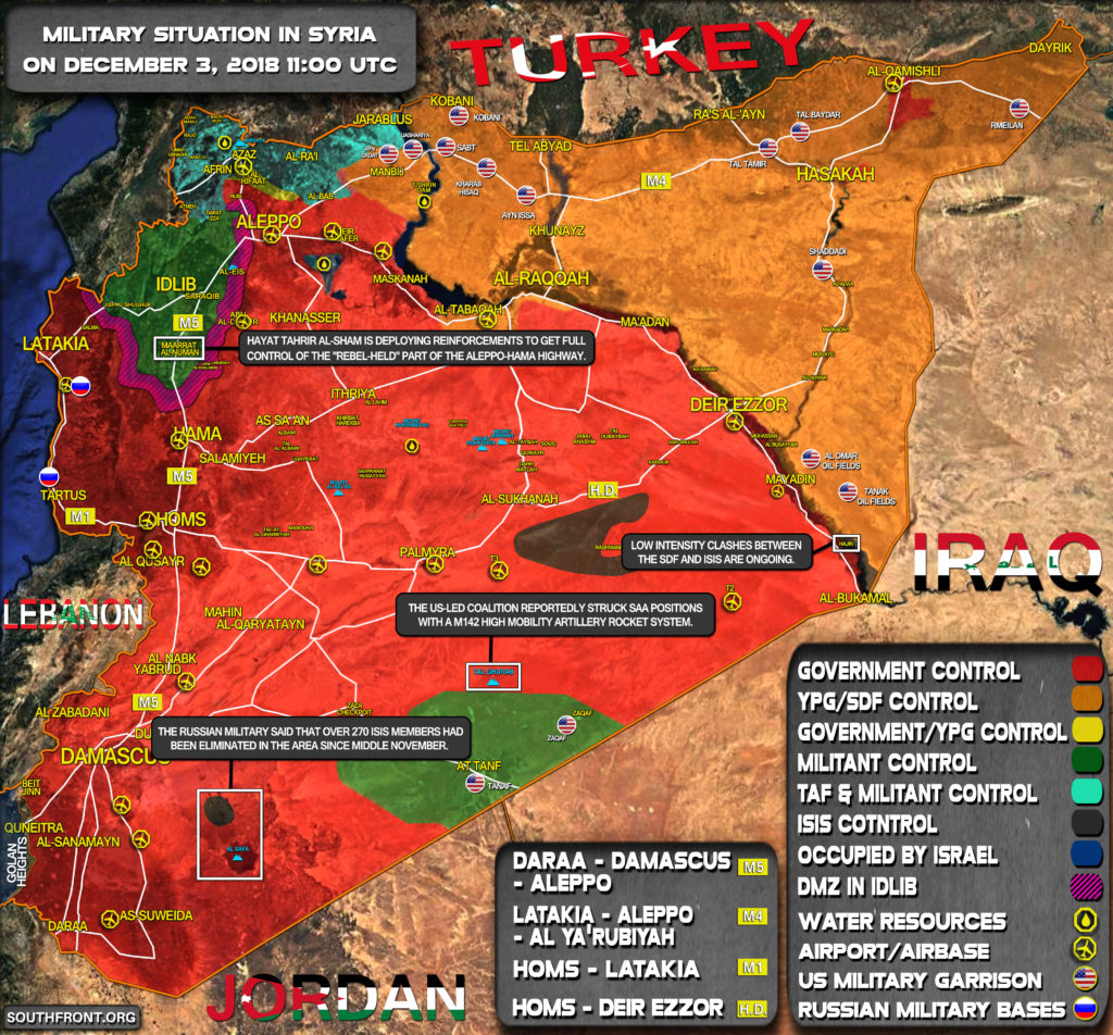 Map Update: Military Situation In Syria On December 3, 2018
