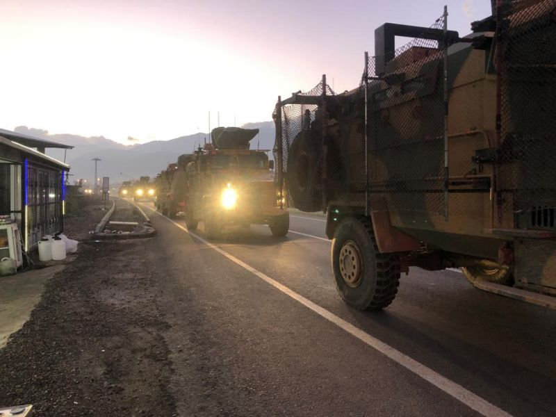 Photos, Videos: Turkish Military Build Up On Border With SDF-Held Part Of Syria