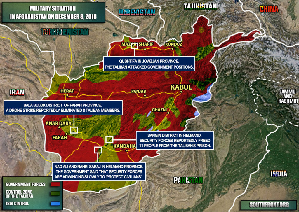 Military Situation In Afghanistan On December 8, 2018 (Map Update)