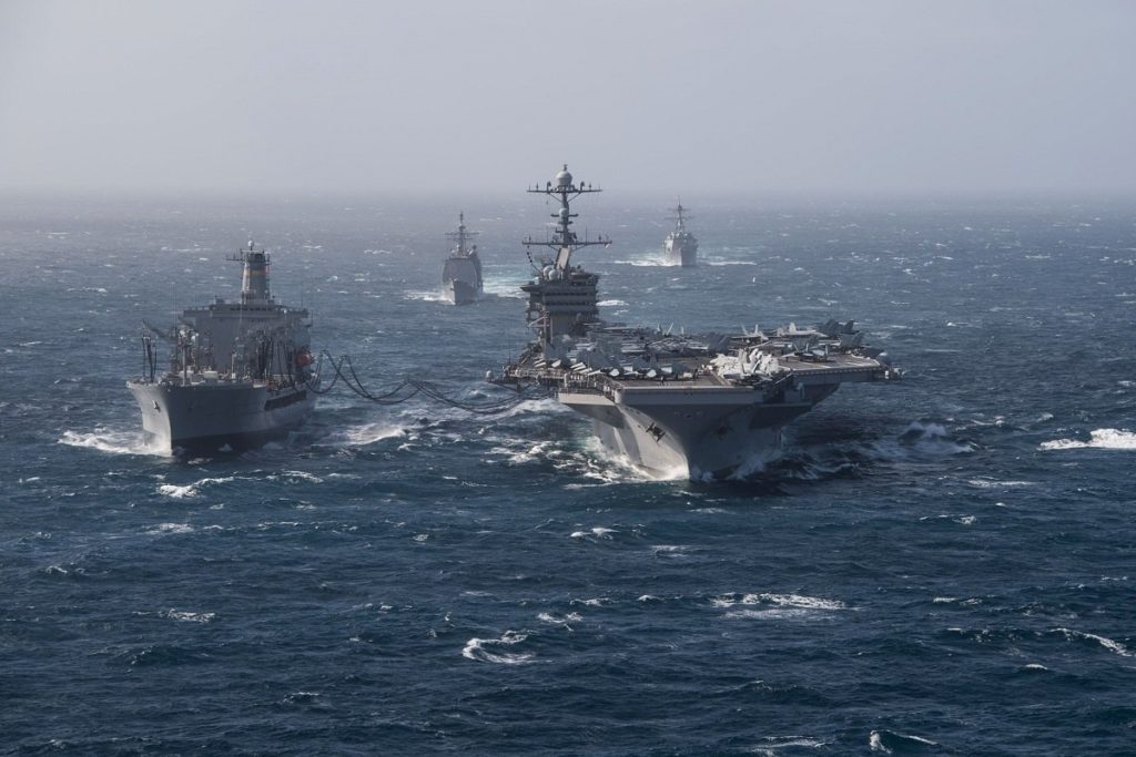 US Aircraft Carrier Sails In Persian Gulf, MSM Claimed Iranian Navy Fired Rockets Near it