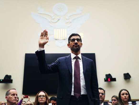 Google CEO Sundar Pichai Testified Before Congress: Lied About Geolocation, Denied Political Search Bias