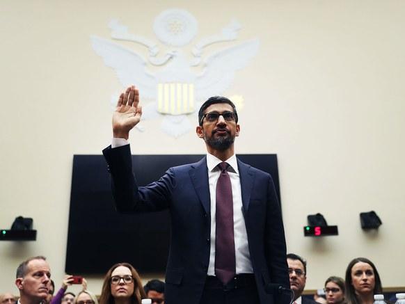 Google CEO Sundar Pichai Testified Before Congress: Lied About Geolocation, Denied Political Search Bias
